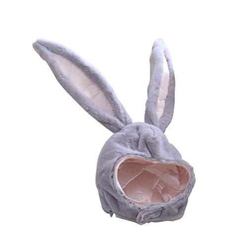 Kostüm Osterhasen - BESTOYARD Kaninchen Hut mit Ohren Lustige Plüsch Hase Ohren Kappe Kaninchen Kostüm Foto Booth Requisiten (Grau)