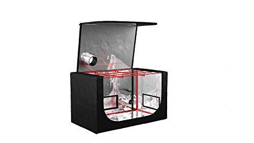 Tente de culture hydroponique de propagation - Accès facile en PVC avec toit Zip Off - gratuit - Double doublé d'aération et entrée de câble Chaussettes - 70 x 120 x 70 cm