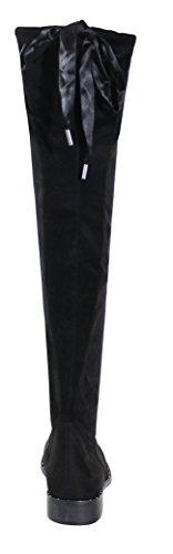 Della Donna Il Derby Di Piattaforma Con Pattino Stile Scarpe Nera Di zU0qwEpqR