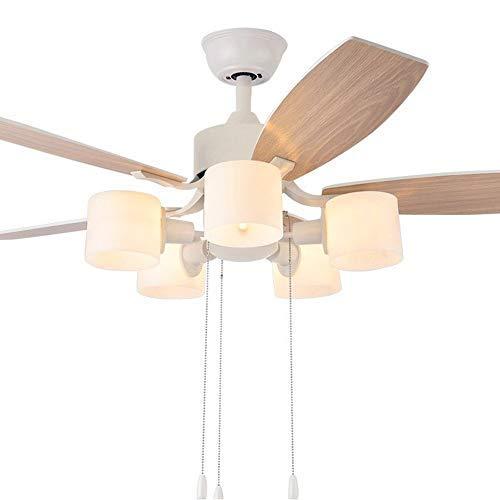 Vier Helle Foyer Lampe (GWFVA moderner Deckenventilator mit Lichtfernbedienung für Deckenventilator und Licht Geräuscharme, energiesparende Moderne Flügel Geräuschlose Schlafzimmerlampe Kinderzimmer Wohnzimmer)