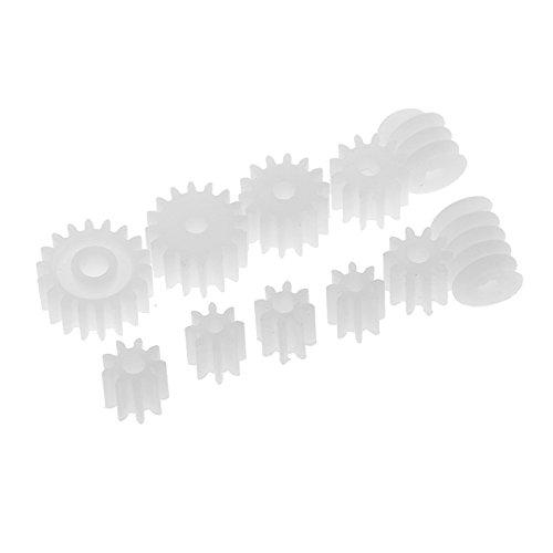MagiDeal 11 Stück / Set Verschiedene Plastik Zahnräder Wurm Auto Spielzeug Modelle Teile Zubehör (Rc Helikopter Ersatzteile-zahnräder)