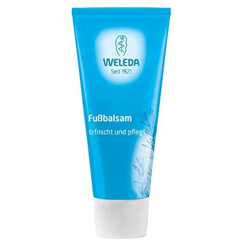WELEDA Fußbalsam, Naturkosmetik Fußpflege zur Vorbeugung und Behandlung von Hornhaut, Fußcreme und Schrundensalbe zur Pflege beanspruchter und trockener Füße (1 x 75 ml)