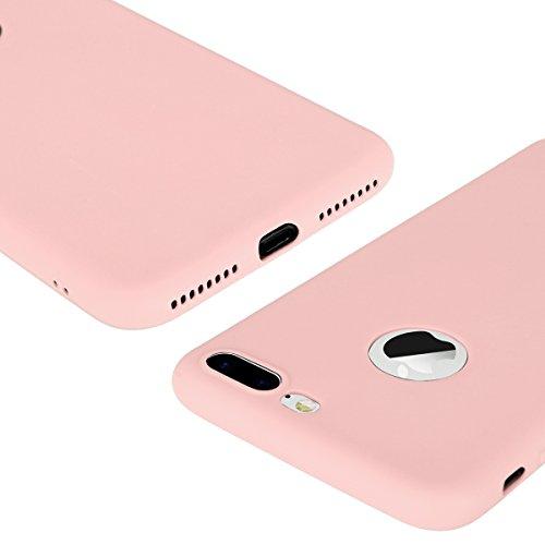 iPhone 7 Plus 8 Plus Hülle Blau TPU Silikon Handy Schutzhülle Handytasche Schutz Cover Case Schale Etui Weich Flexible Ultra Dünn Matt Kratzfeste Tasche Verschiedene Farben Rosa