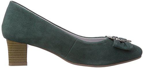 Bergheimer Trachtenschuhe Rosi, Escarpins femme Vert (moss Green)