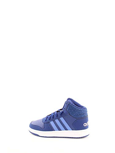 adidas Unisex-Kinder Hoops Mid 2.0 Basketballschuhe, Blau Mysink/Realil/Cleora, 34 EU