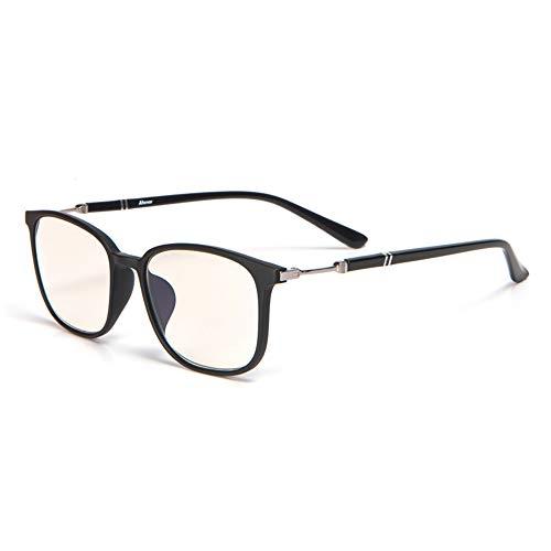 CAOXN Full Frame Blue Light Blocking Lesebrille Strahlenresistent Reduzieren Augenbelastung Blendschutz Video Brillen Für Männer Frauen,Matteblack+250