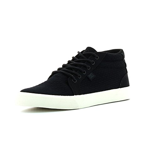 dc-shoes-mens-council-mid-tx-se-black-textile-trainers-44-eu