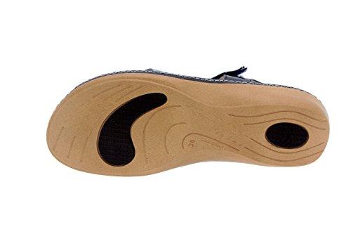 Scarpe Da Donna Comfort In Pelle Piesanto 4811 Sandali Scarpe Solette Estraibili Comode Ampie Marine