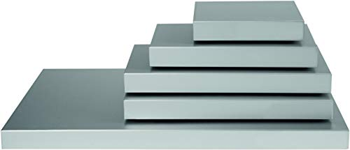 N Kühl-Servierplatte, Metall, Silber, 32.5 x 17.6 x 3.6 cm ()