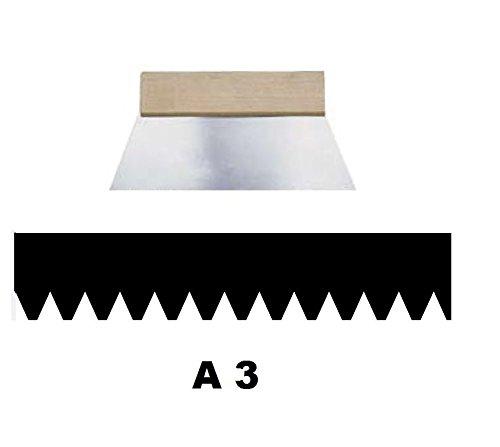 Leim Klebstoff Zahnspachtel Bodenleger Normalstahl A3 0.5x1.5mm gezahnt 180mm