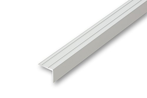 Treppen-Kantenprofil Stufen-Profil Alu-Winkel-Profil 4,43/€//m 19 x 20 x 900 mm ungebohrt, silber Treppenwinkel 19 x 20 x 900 mm silber ungebohrt