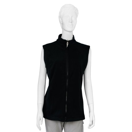 McKinley Damen Fleece-Weste Monte Ceneri 2 schwarz, Größe:40