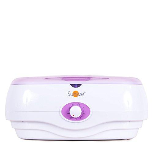 Sunzze Paraffin-Bad PB 300 mit Temperaturregler, erwärmt Paraffinwachs pflegt raue strapazierte Haut und macht weiche geschmeidige sanfte Hände und Füße. Fördert die Durchblutung