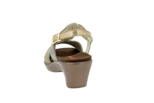 Scarpe donna comfort pelle Piesanto 4853 sandali soletta estraibile comfort larghezza speciale Cava