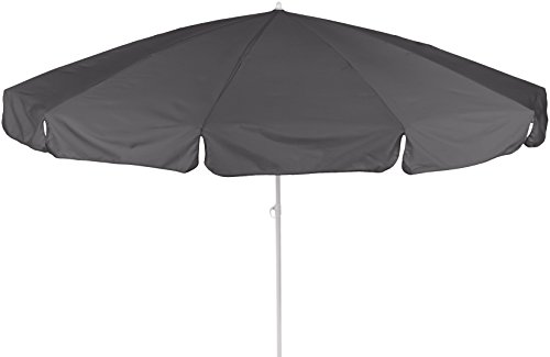 beo DU92 Dralon Sonnenschirm 240cm - Sombrilla para patio (medio), color gris