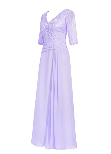 Dresstells Damen Abendkleider Bodenlang Homecoming Kleider Cocktail-Kleider Grape