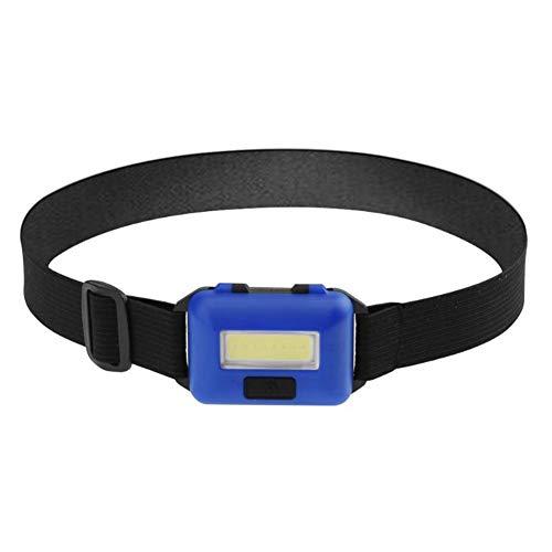 SH-Zak Miller Stirnlampe Kopflampe Mini 3 Modi Wasserdicht COB LED Taschenlampe Außenscheinwerfer Lampe Taschenlampe Lanterna mit Stirnband Verwendung Außenreit Camping Beleuchtung,Blue (Stirnband Diy Kit)