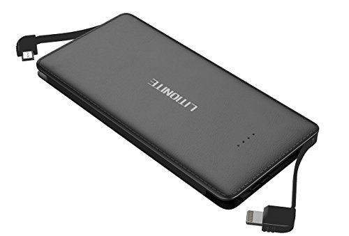 Litionite® Capsule 5000mAh Mini Power Bank Batería Externa Portátil con Cable Micro...