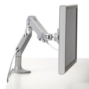Humanscale M8CS1S - Silver w Grey Trim M8 Monitor Arm (Manufacturer's SKU: M8CS1S) -