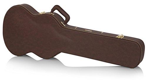 Gator GW-SG-BROWN - Funda rígida de madera para guitarra eléctrica tipo SG, color marrón