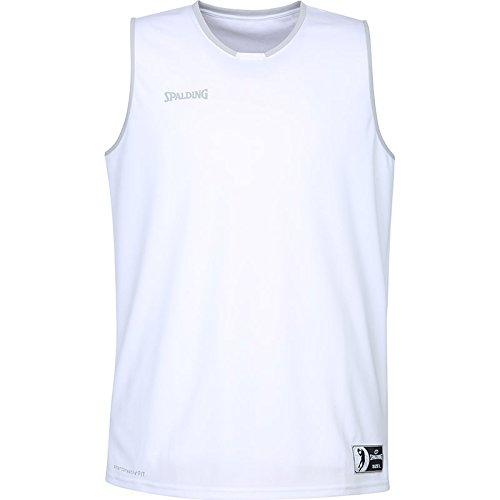 Spalding Herren Move Tank Top, Weiß/Silber Grau, M (Silber - Herren-basketball)
