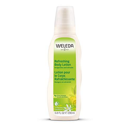 WELEDA Citrus Erfrischende Feuchtigkeitslotion, Naturkosmetik Bodylotion zur intensiven Pflege von trockener Haut, kühlt und beruhigt mit Aloe Vera und Kokosöl (1 x 200 ml)