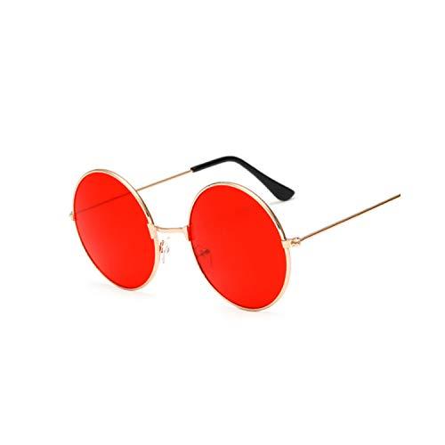Sportbrillen, Angeln Golfbrille,New Fashion Candy Vintage Round Mirror Sunglasses Women Luxury Brand Original Design Black Sun Glasses Female Oculos Jelly red