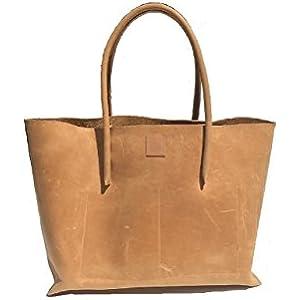 Ledershopper / Shopping bag / großer Shopper / Naturleder Ledertasche used look Leder Vintage Tasche Handmade robust und strapazierfähig