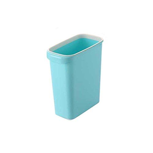 Preisvergleich Produktbild LIYONGDONG® Mülleimer Verdickung Keine Abdeckung mit Druckring Kunststoff Mülleimer Badezimmer Schlafzimmer Küche Haushalt Papierkorb 10.2 * 22 * 30.5CM 7.5L Blue