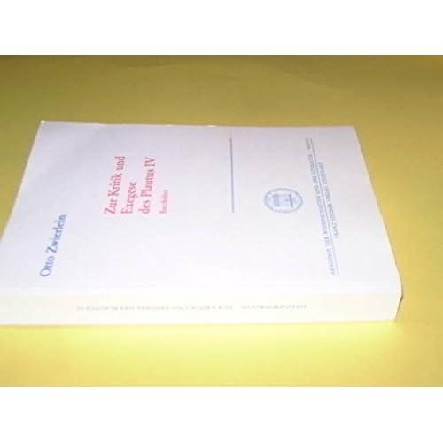 Zur Kritik und Exegese des Plautus. IV. Bacchides.