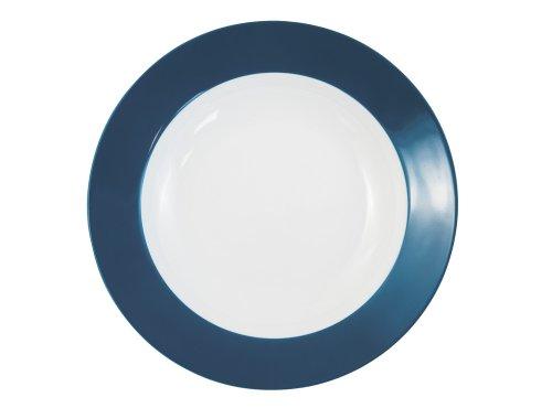 Kahla - Porcelaine pour les Sens 573406A70773C Pronto Colore Assiette à Soupe Bleu/Vert 22 cm