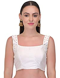 46fe889785370 Amazon.in  Whites - Blouses   Ethnic Wear  Clothing   Accessories