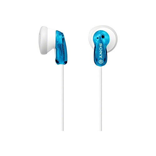 Sony MDR-E9LP In-Ear / In-Ohr Kopfhörer (1,2m Kabel, Neodym-Magnet, für MP3-Player, Walkman, iPod) weiß/blau - Walkman-mp3-ohrhörer
