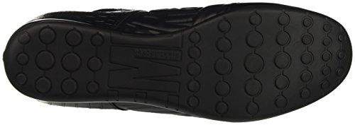 Bikkembergs R-evolution 331 Low Shoe M Leather, Pompes à plateforme plate homme Noir - Nero (Croco Print Black)
