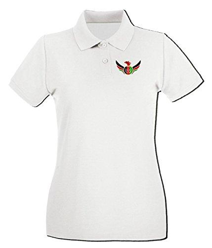 Cotton Island - Polo pour femme TM0146 afghanistan flag flag Blanc