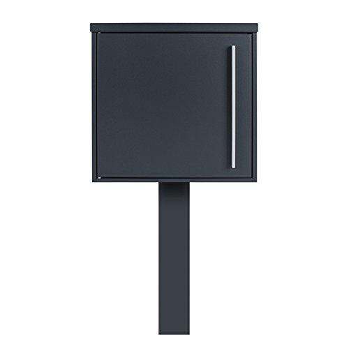 MOCAVI Sbox 101b Standbriefkasten anthrazit-grau (RAL 7016) Design-Postkasten freistehend mit Pfosten (betonieren)