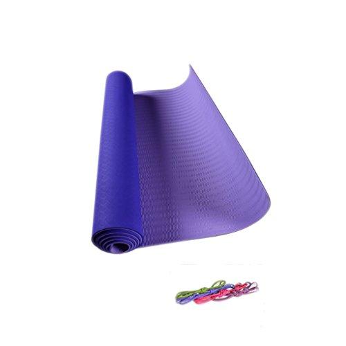 GLL- Yoga-Matten, Länge 1830 * Breite 610 * Dicke 5mm Pilates Gymnastikmatte Fitnessmatte Tanzmatte Anti-Rutsch-Matte (Farbe : E, größe : 183 * 61cm) (Grün Kinder-yoga-matte)