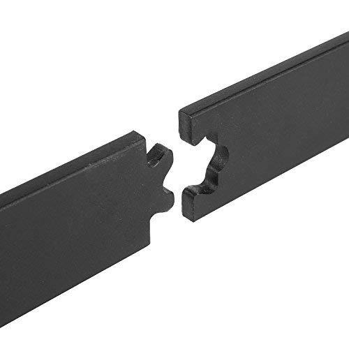 FIXKIT 6,6Ft 200cm Herraje para Puerta Corredera Kit de Accesorios para Puertas Correderas Juego de Piezas de Metal Carril para Puerta Deslizante 200*4*0.6cm