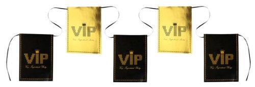 Flaggenkette VIP, 6m lang, schwarz/gold 1 ()