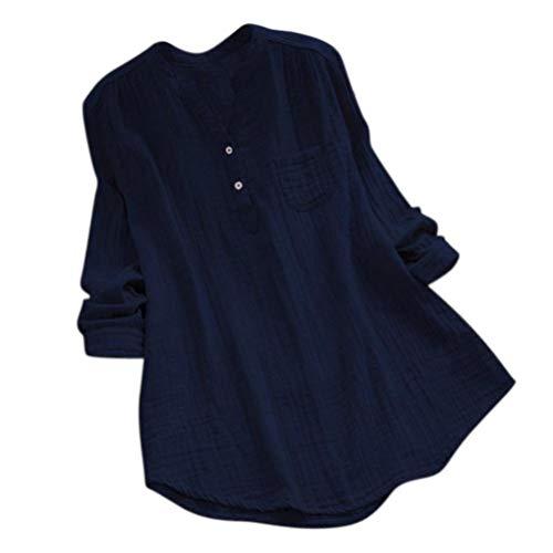 iHENGH Damen Tops, Women Herbst Stand Kragen Lange ÄRmel LäSsige Lockere Tunika Tops T Shirt Bluse (Bane Hund Kostüm)