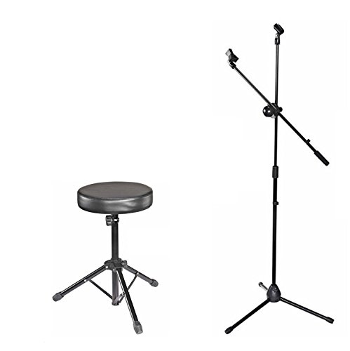 Kadence Drum M30 Throne and Microphone Stand Combo