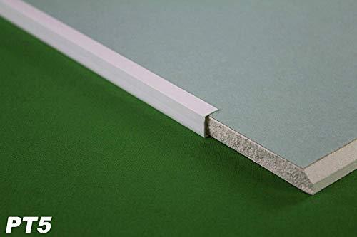 20 Meter PVC Kantenprofil für Gipskarton Platten Rigips 12,5mm Einfassprofil PT5