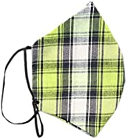Rapsodia Cotton Unisex Anti-Pollution Checked Mask- Assorted Colors