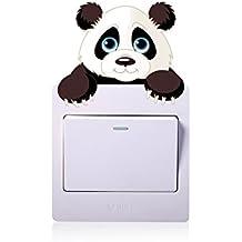Rainbow Fox Cambiar decoración Cambiar Etiquetas engomadas, Niños animal pegatinas de pared , panda,