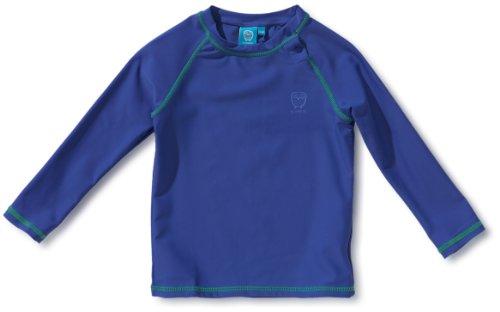 Ej Sikke Lej Jungen Langarmshirt 131038 Swimwear Owl, T-Shirt, Gr. 140, Blau (blue)