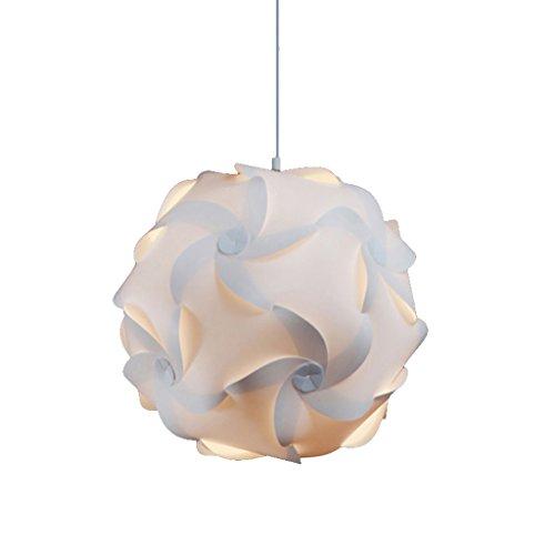 @lustre Lightingsky plafond pendentif bricolage IQ Jigsaw Puzzle lampe ombre kit avec cordon de suspension (D25CM * H25CM)