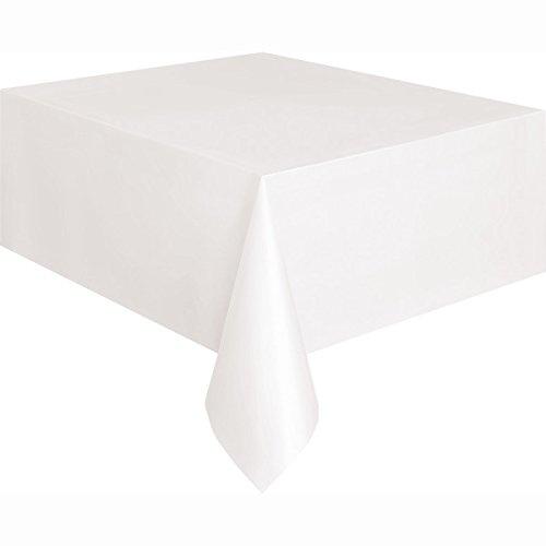Kunststoff-Tischdecke, 2,74 x 1,37 m, weiß