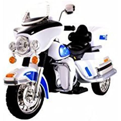 Kids Twin 6V Chopper Cruiser Style Ride On Bike - White from Very Bazaar (tm)