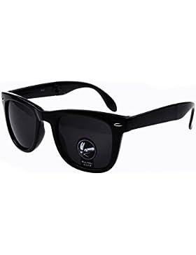 Winwintom Hombres Mujeres Fold up Plaza Deportes al aire libre Gafas Gafas gafas de sol de espejo Vintage