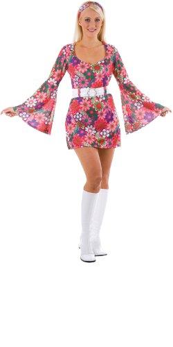 Imagen de 60s  disfraz de hippie años 60s para mujer, talla l ef 2060. l  alternativa